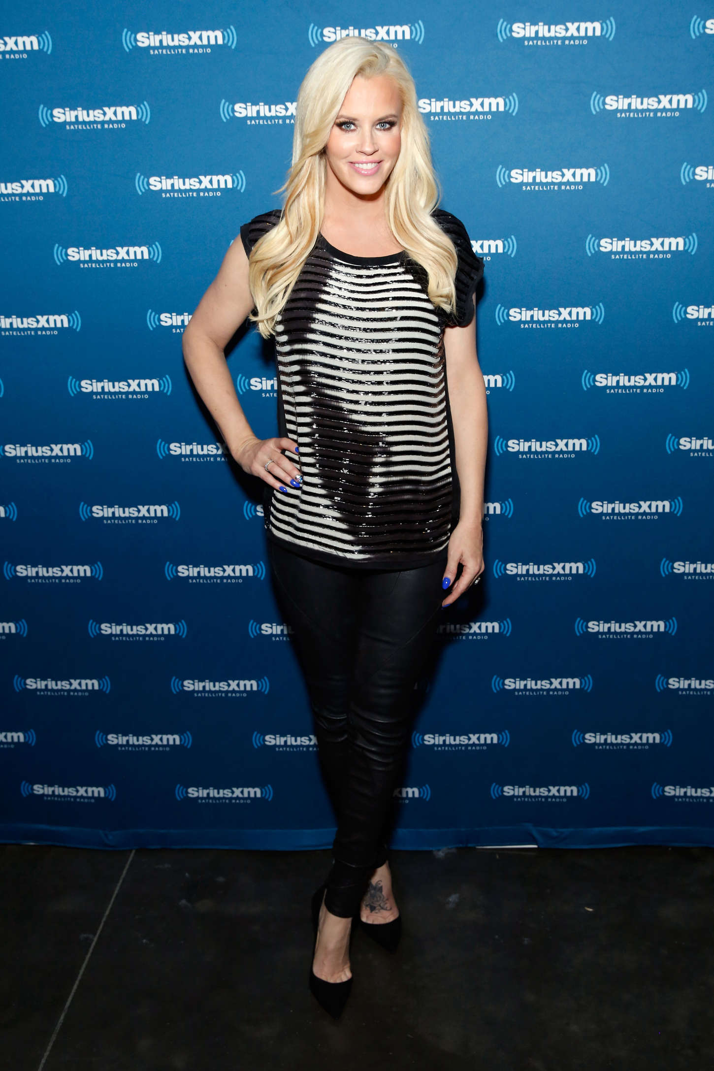 Jenny McCarthy attends Super Bowl XLIX Radio Row