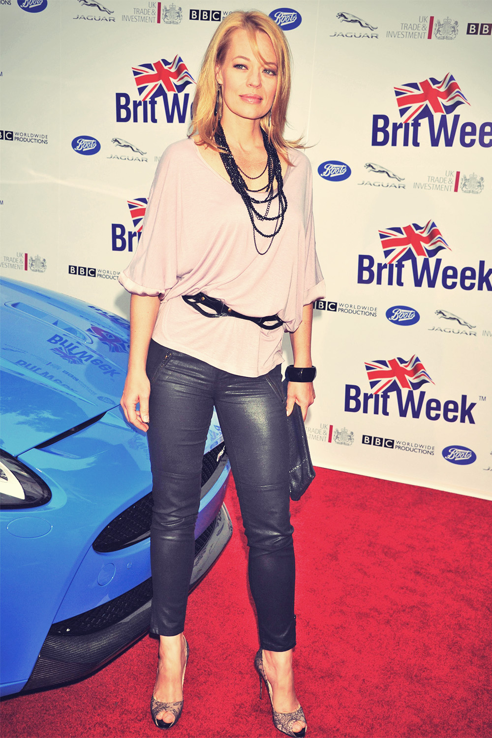 Jeri Ryan attends the 2012 BritWeek Launch Party