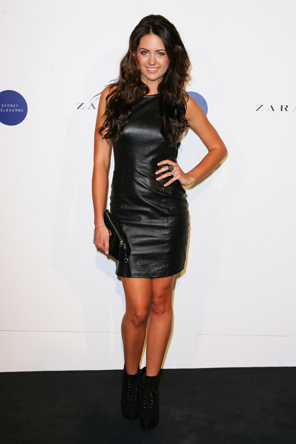 Jesinta Campbell in leather dress