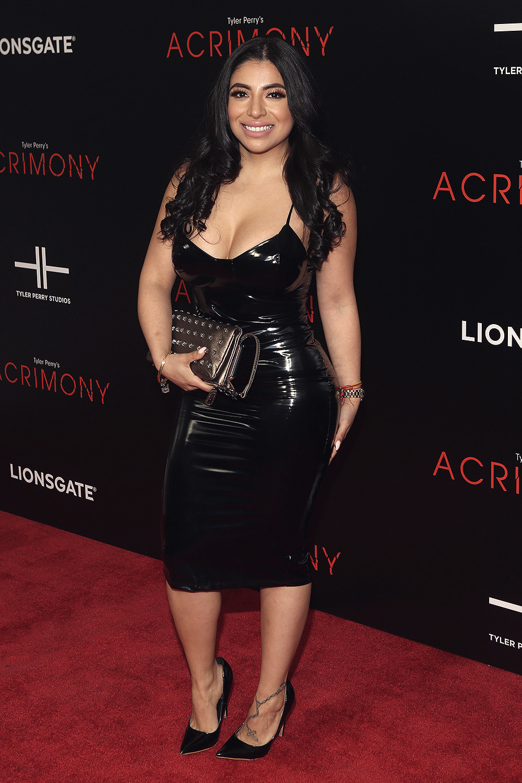 Jessenia Katherine Gallegos attends Acrimony film premiere