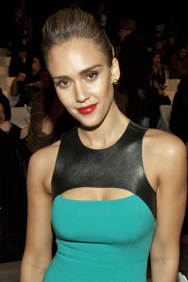 Jessica Alba at Michael Kors Fall 2012 Fashion Show in NY