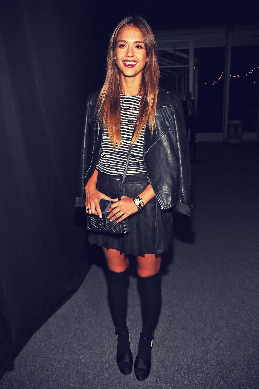 Jessica Alba attends Charlotte Ronson Fashion presentation