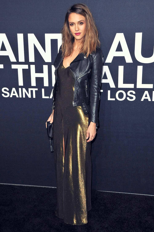 Jessica Alba attends Saint Laurent show