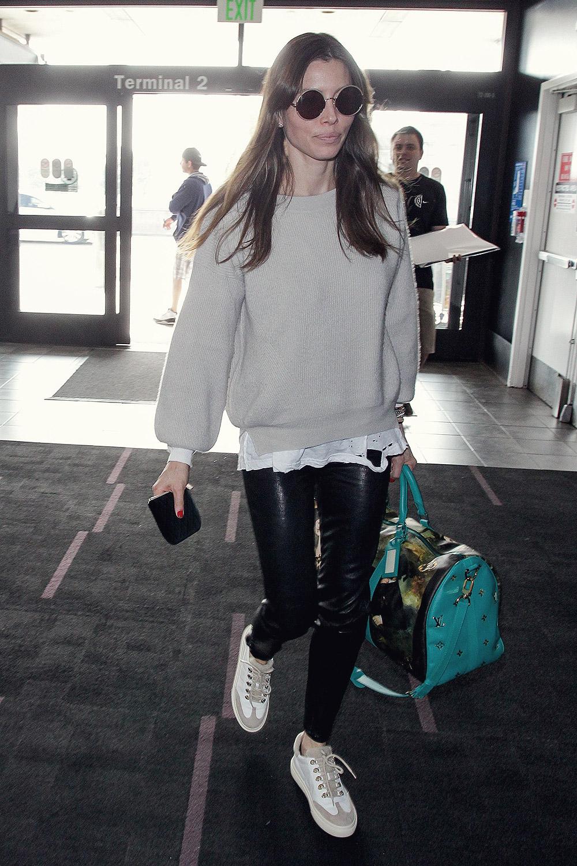 Jessica Biel at LAX - ...