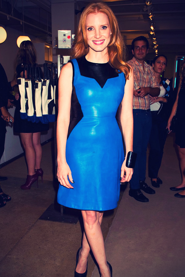Jessica Chastain at Fashion Night Out