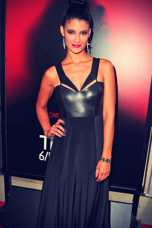 Jessica Clark attends True Blood season 6 premiere