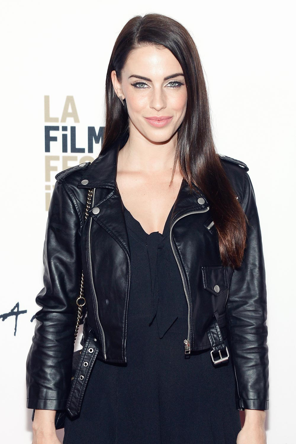 Jessica Lowndes Attends Abattoir Premiere Leather