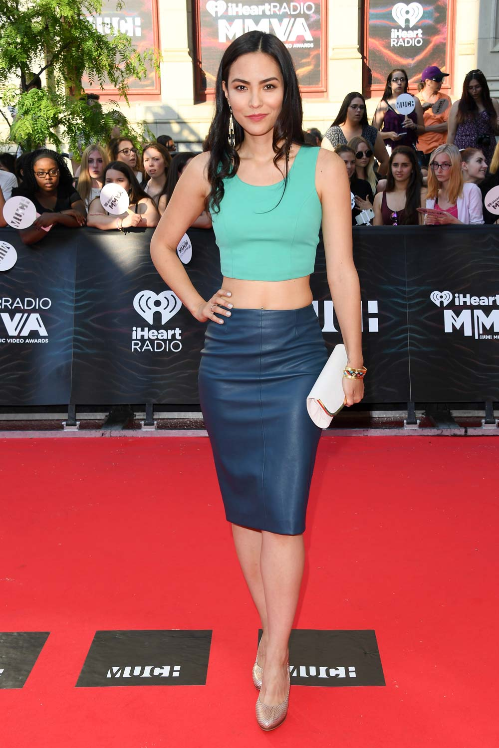 Jessica Matten arrives at the 2016 iHeartRADIO MuchMusic Video Awards