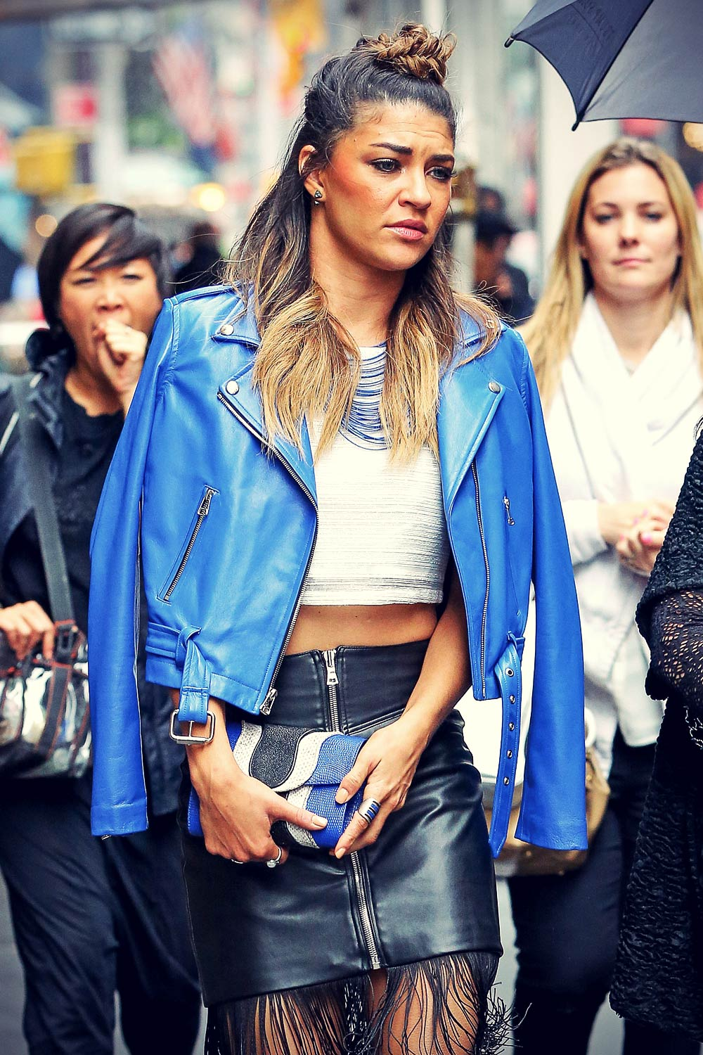 Jessica Szohr out and about in NYC