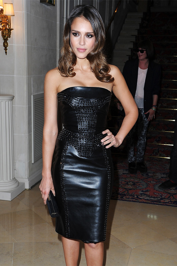 Jessica Alba at Versace Haute-Couture