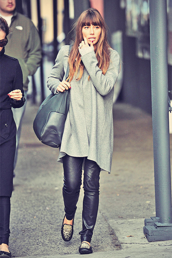 Jessica Biel running errands in New York
