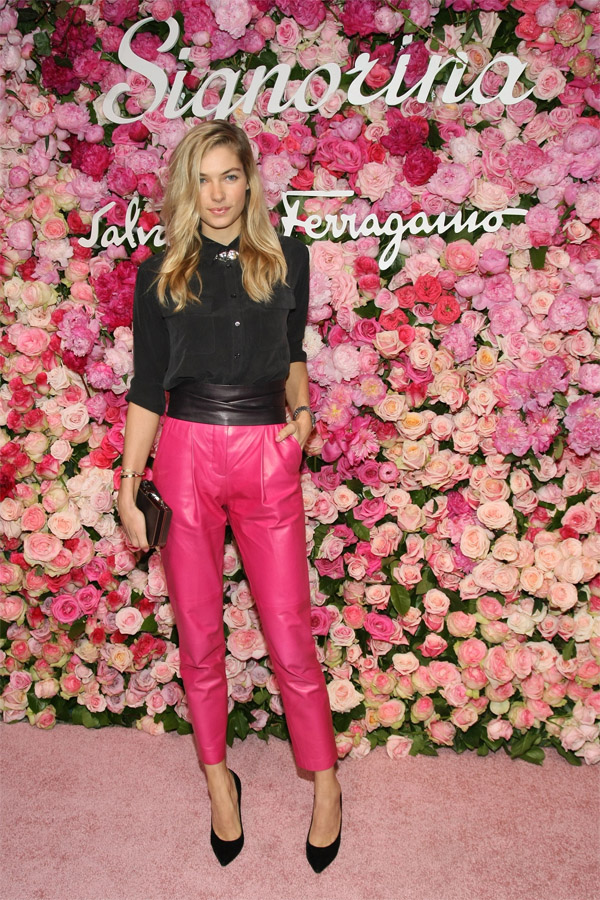 Jessica Hart at Salvatore Ferragamo Celebrates The Launch Of Signorina