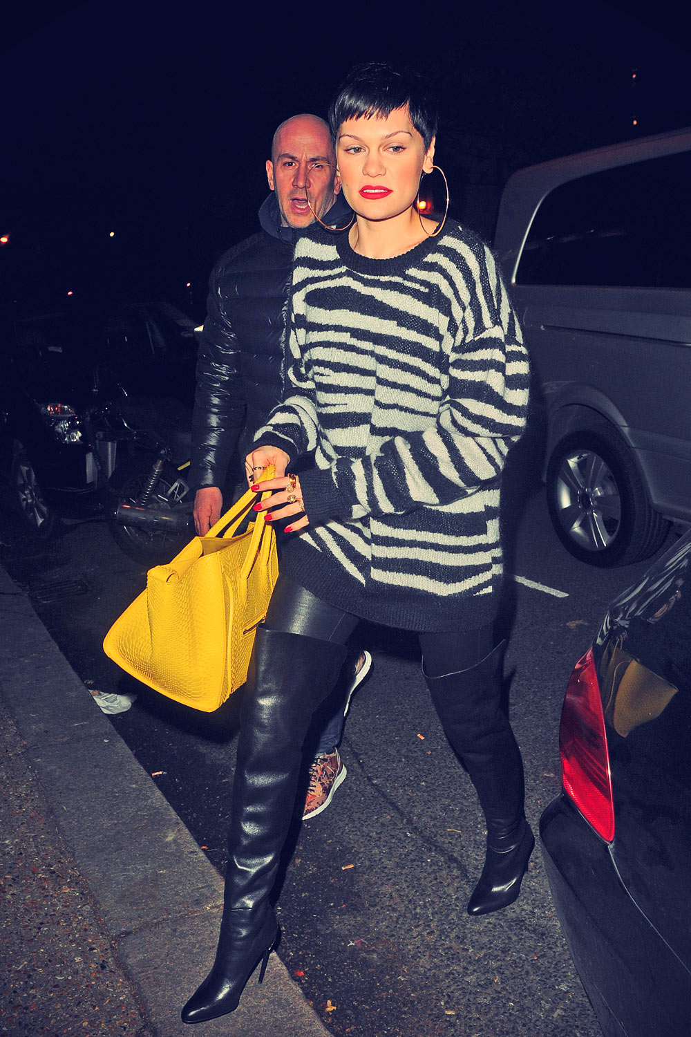 Jessie J At Studio to Film Top of the Pops Christmas Day Show
