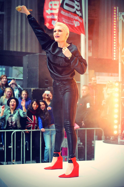 Jessie J at Australian breakfast TV show Sunrise