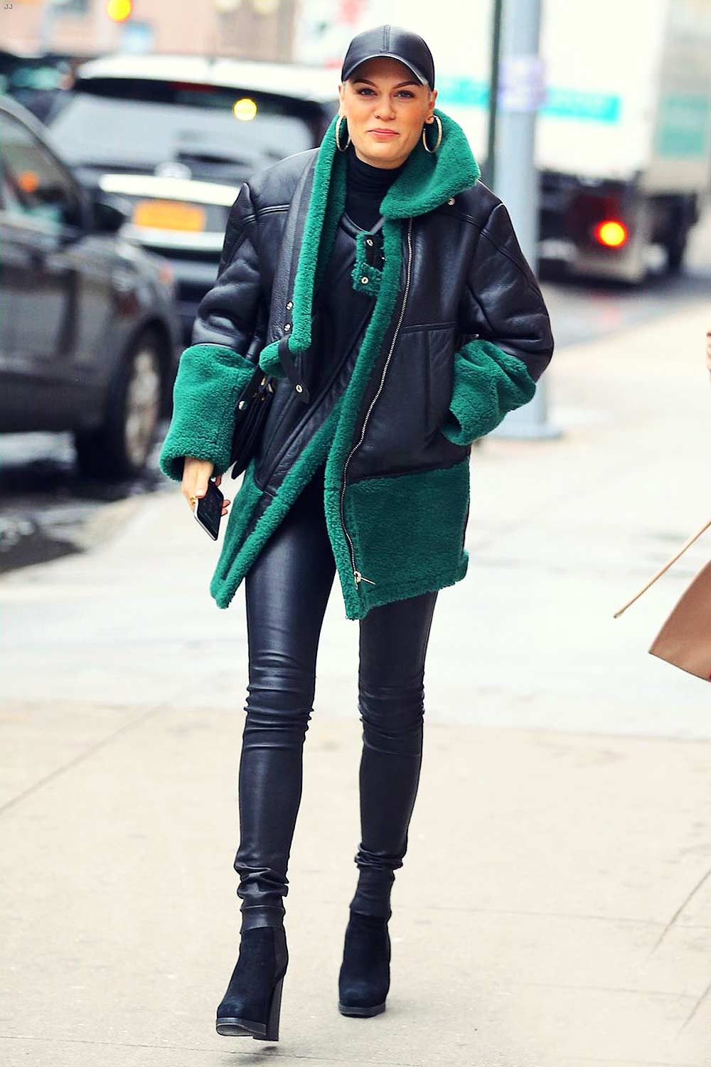 Jessie J In New York City Leather Celebrities