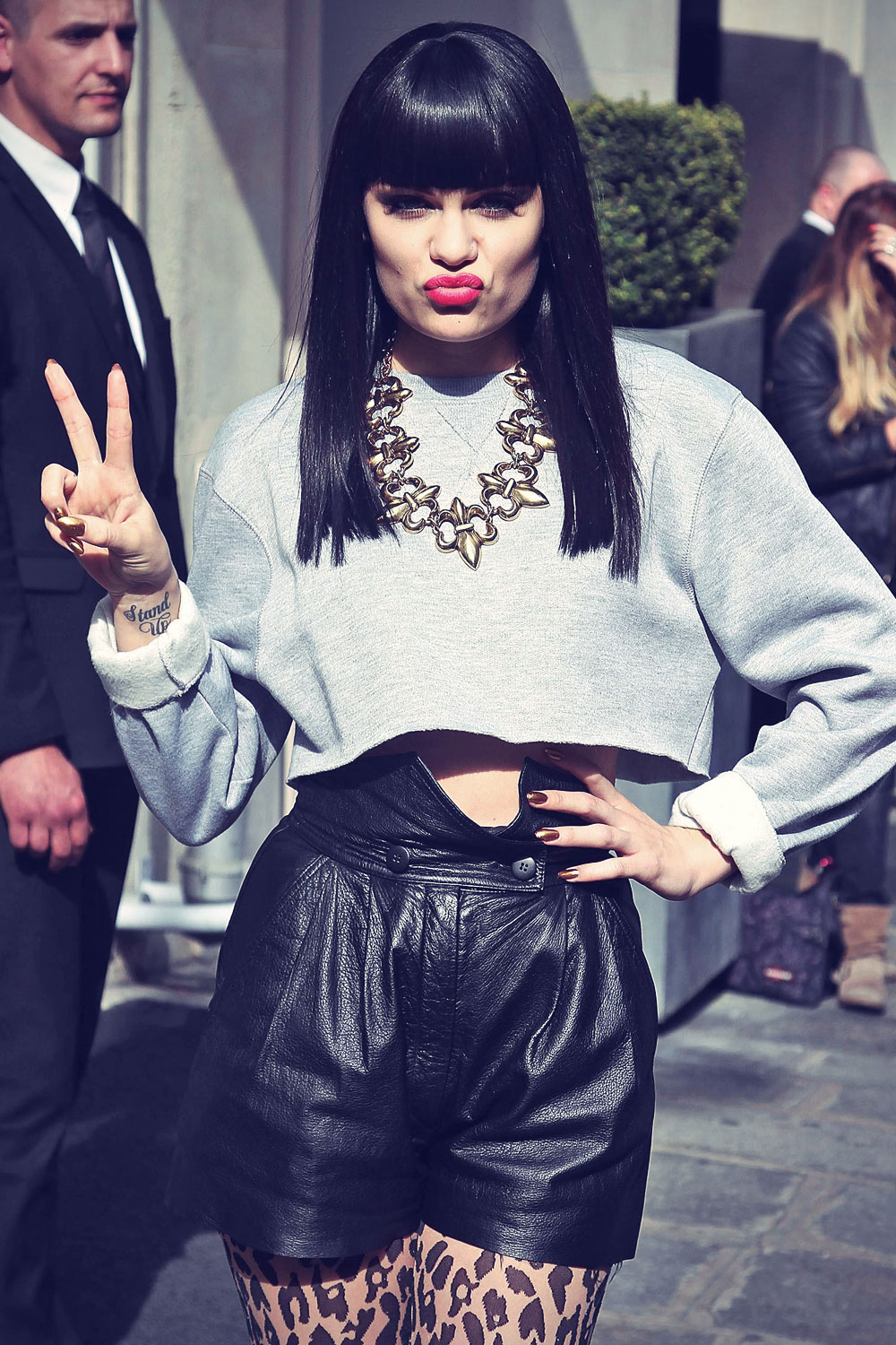 Jessie J leaving her Hotel in Paris
