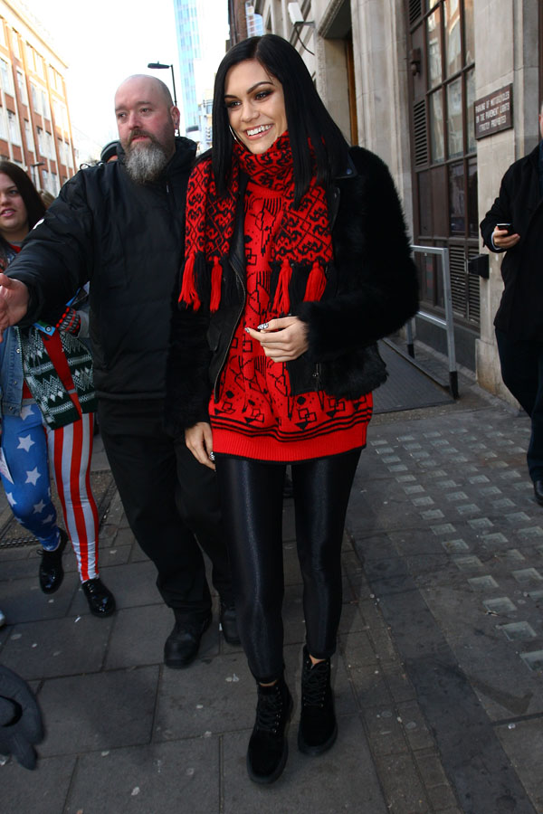 Jessie J at Radio 1 in central London