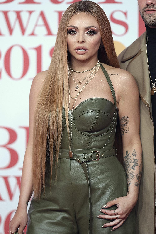 Jesy Nelson attends 38th Brit Awards
