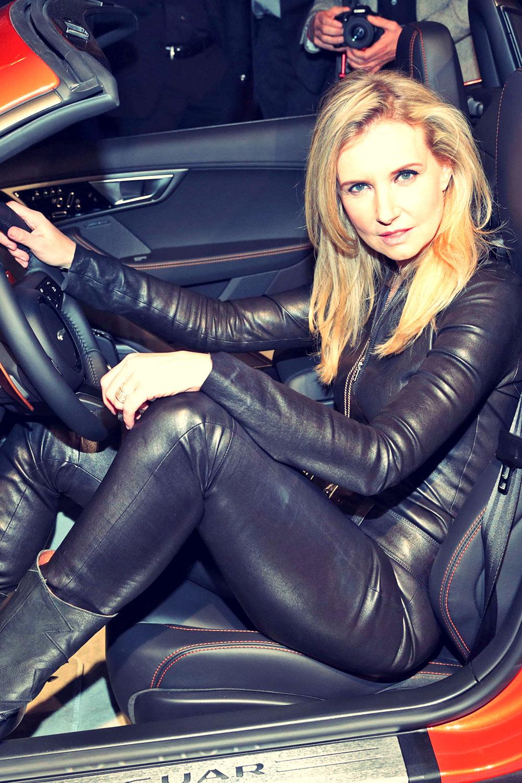 Jette Joop attends  Jaguar Coupe Deutschland premiere