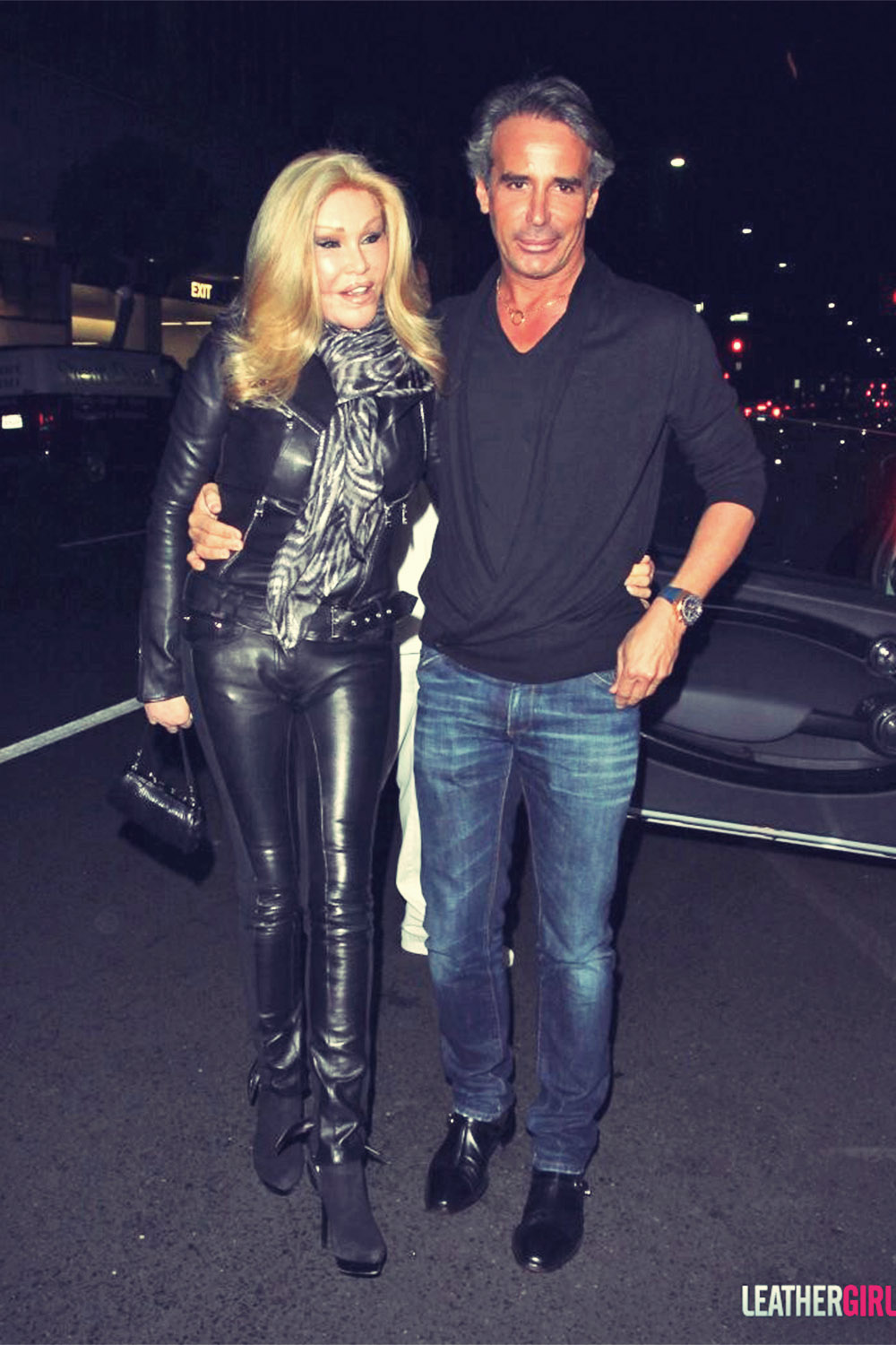 Jocelyn Wildenstein Dines Out at Mr Chow