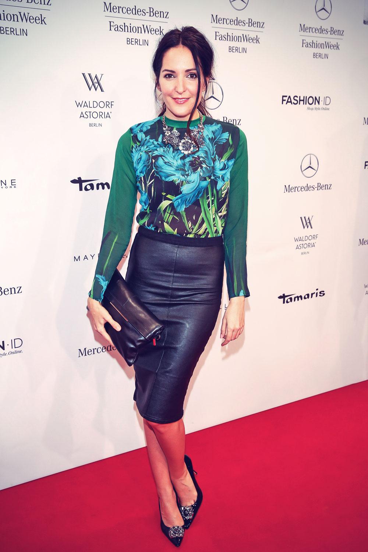 Johanna Klum attends Mercedes-Benz Fashion Week