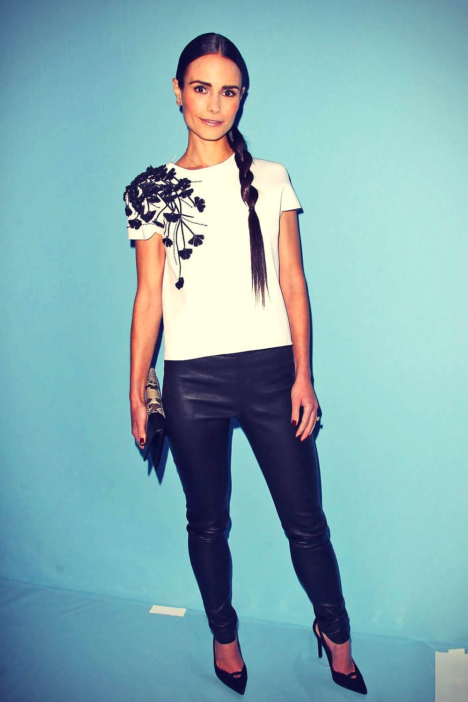 Jordana Brewster attends Carolina Herrera Fashion Show
