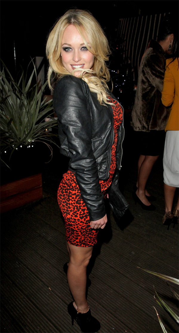 Jorgie Porter at the Christmas party for Cricket Boutique held at the Sakura Restaurant in Liverpool