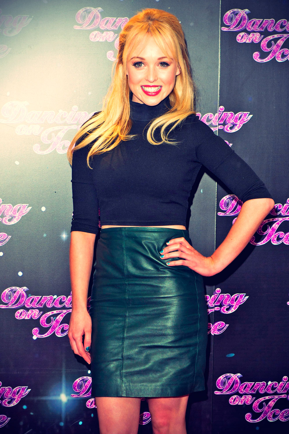 Jorgie Porter attends Dancing on Ice 2014