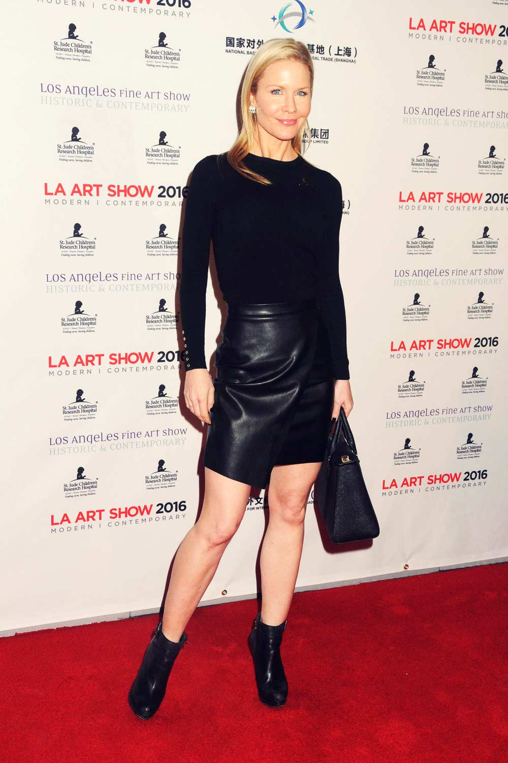 Josie Davis Attends The La Art Show And The Los Angeles