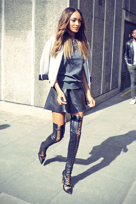 Jourdan Dunn at the Vogue festival 2014