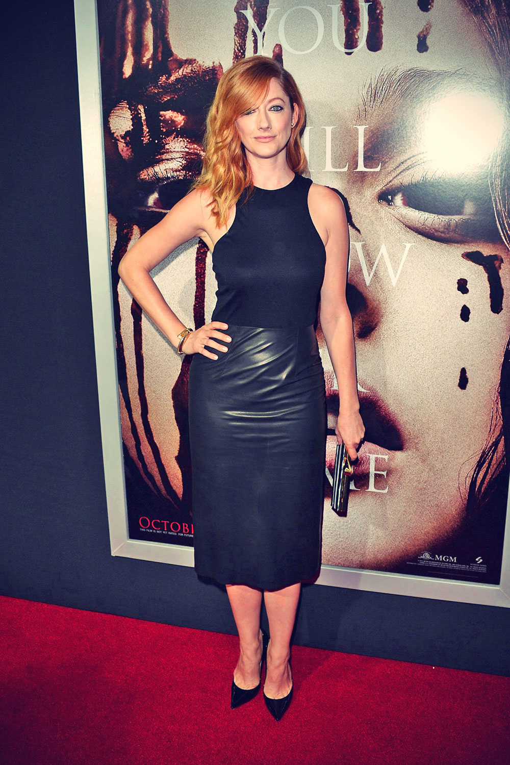 Judy Greer attends Premiere of Carrie