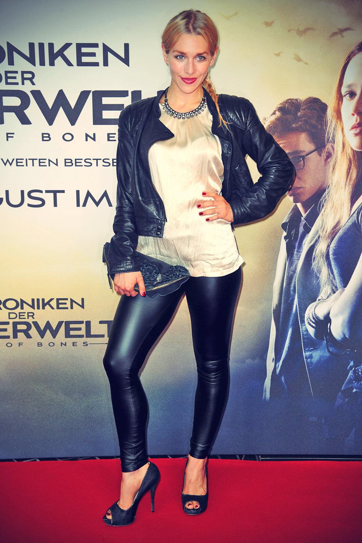 Julia Dietze attends City of Bones The Mortal Instruments Premiere