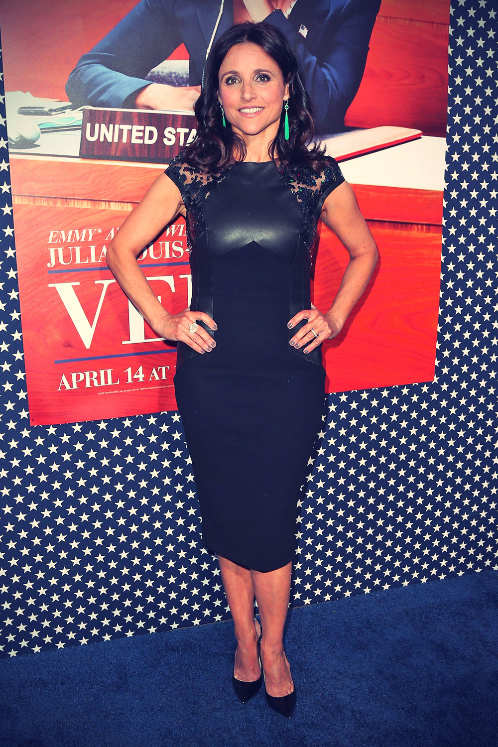 Julia Louis Dreyfus attends the Premiere of HBO VEEP Season 2