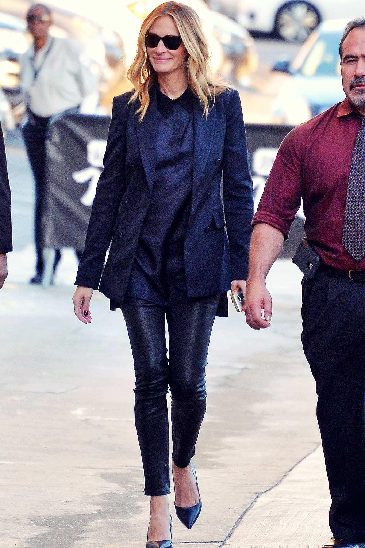 Julia Roberts is seen at Jimmy Kimmel Live