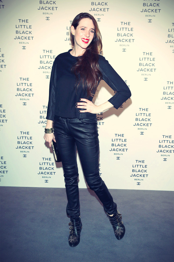 Julia Malik attends CHANEL The Little Black Jacket Exhibition
