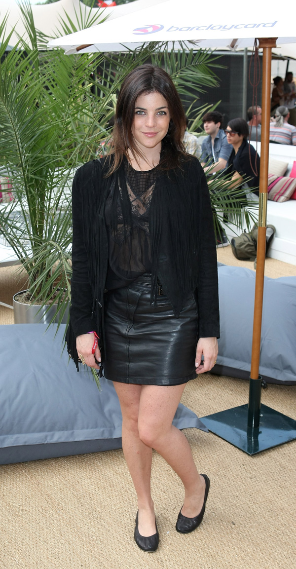 Julia Restoin-Roitfeld at Barclaycard Unwind VIP Pod at the Wireless Festival