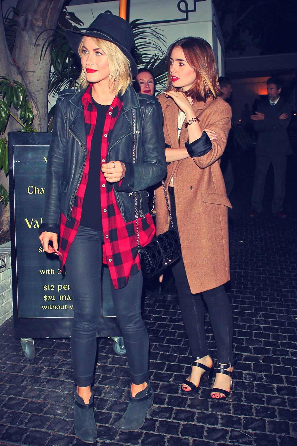 Julianne Hough and Lily Collins at Chateau Marmont