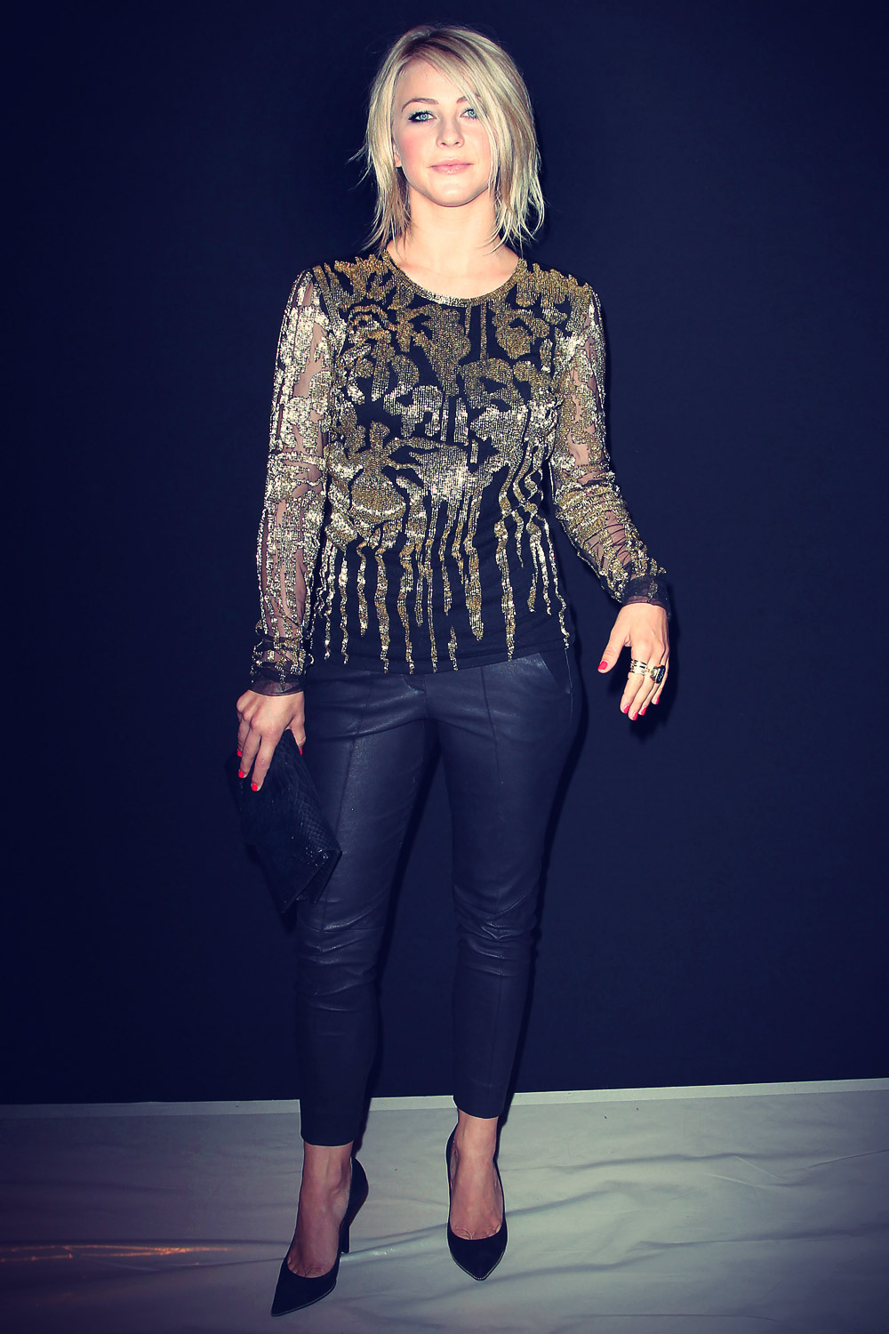 Julianne Hough attends the Naeem Khan Spring 2013 fashion show