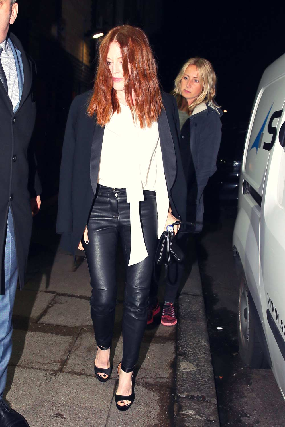 Julianne Moore Out And About In London Leather Celebrities