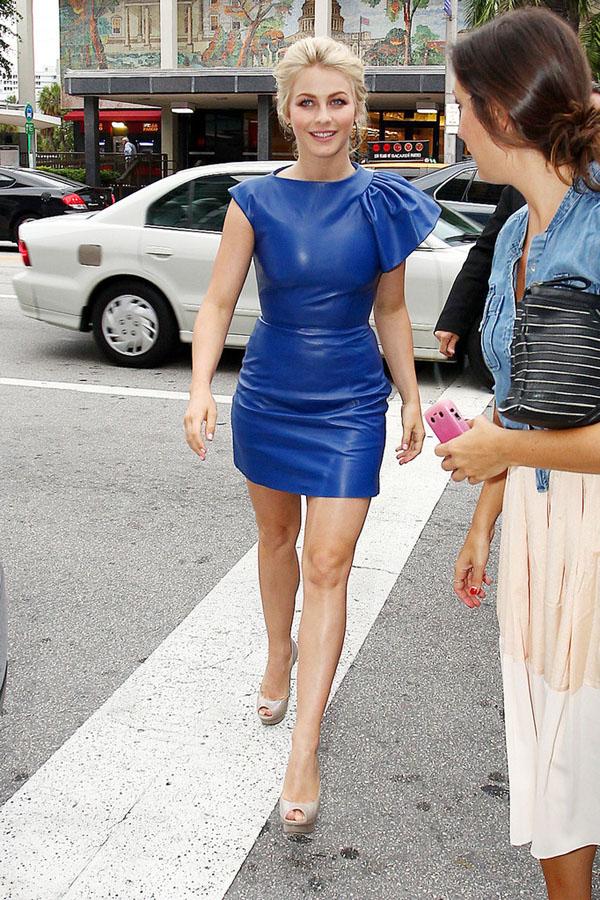 Julianne Hough leather dress