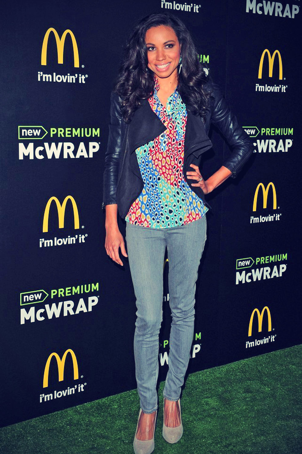 Jurnee Smollett attends the launch of McDonald's Premium McWrap