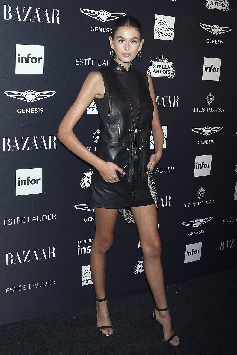 Kaia Gerber attends Harper's Bazaar celebrates 'ICONS By Carine Roitfeld'