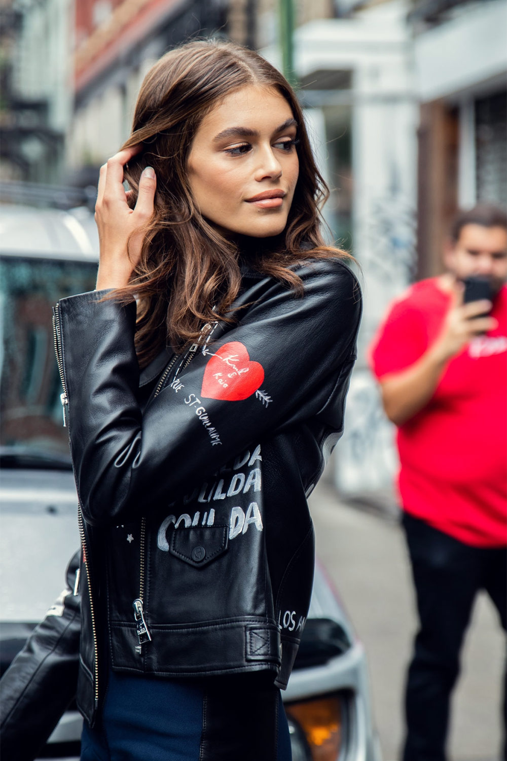 Kaia Gerber seen during New York Fashion Week SS 2019