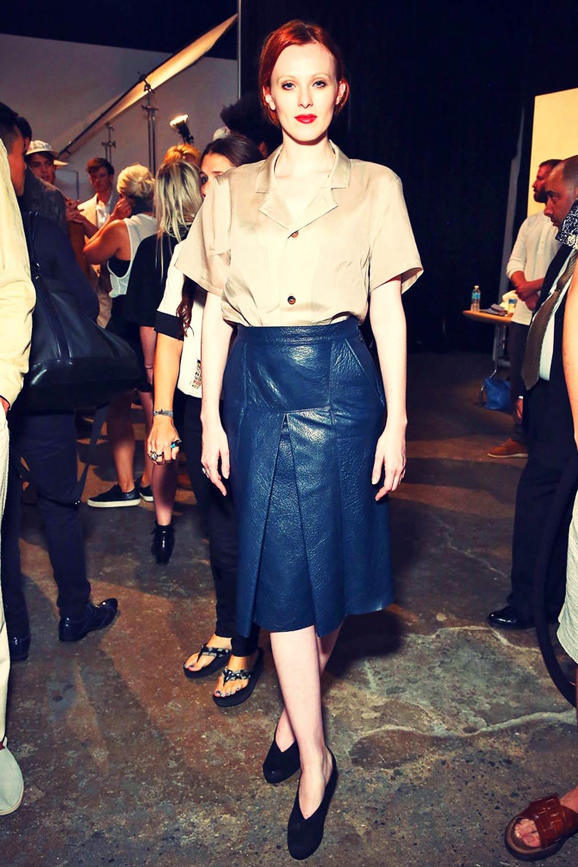 Karen Elson attends New York Fashion Week: Men's S/S 2016