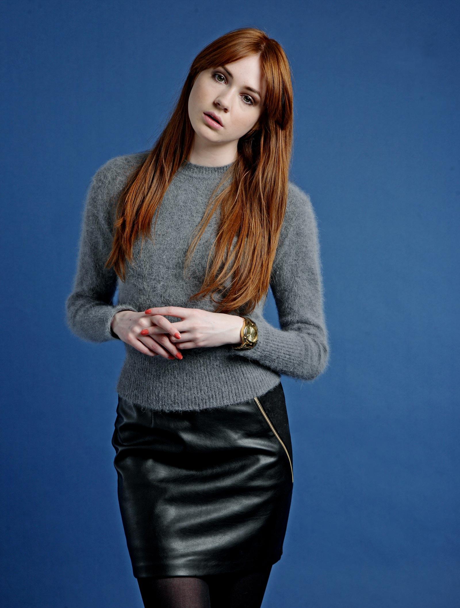 Karen Gillan Guardian photoshoot - Leather Celebrities Rihanna Instagram