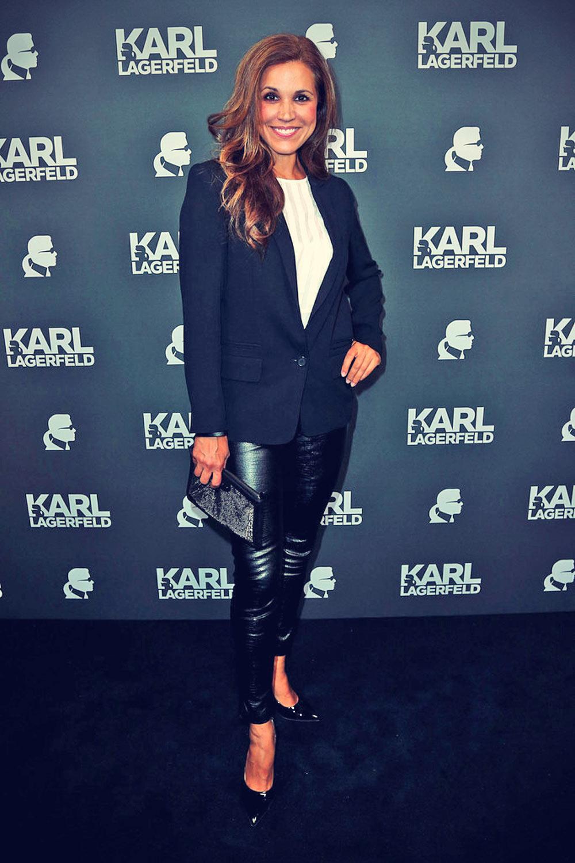 Karen Webb attneds Lagerfeld Store Opening