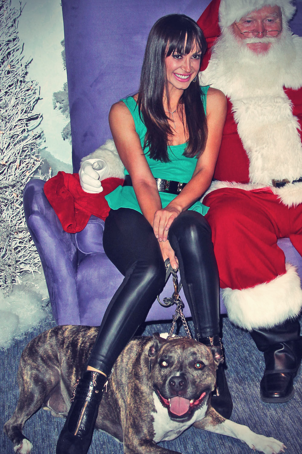 Karina Smirnoff attends Beverly Center Holiday Debut With Stars & Their Pets