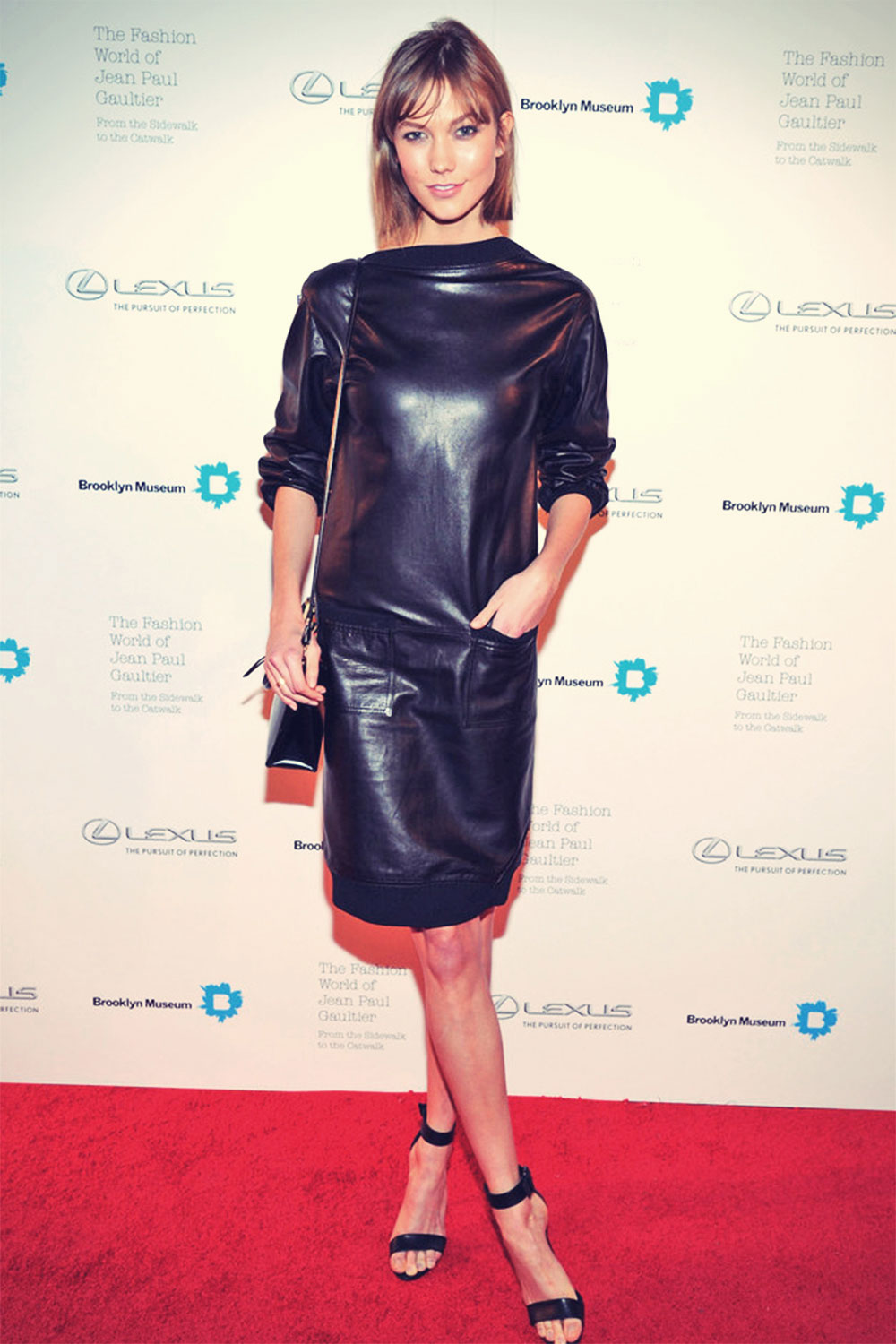 Karlie Kloss attends the VIP reception and viewing for The Fashion World of Jean Paul Gaultier