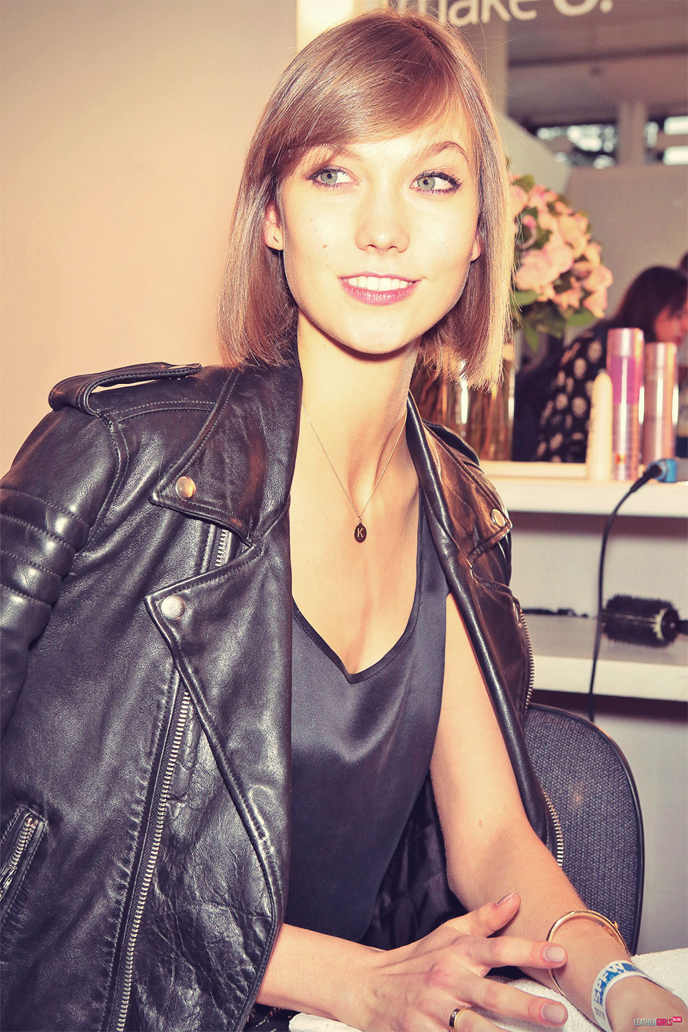 Karlie Kloss backstage at Animale Spring Summer 2014