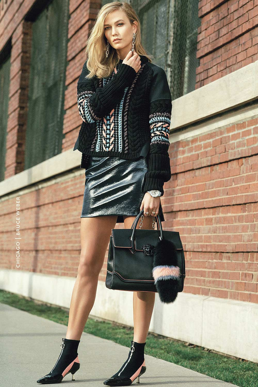 Karlie Kloss photoshoot for Versace